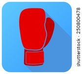 sport icon with boxing gloves... | Shutterstock .eps vector #250800478
