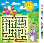 maze 3 with easter theme  ... | Shutterstock .eps vector #250803412