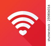 heart shape and wifi sign.... | Shutterstock .eps vector #250806016