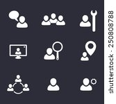 business flat icons with people ...