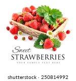 Basket Fresh Strawberry With...