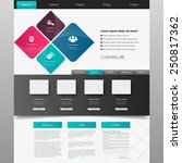 website design template  vector. | Shutterstock .eps vector #250817362