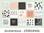 set of 15 creative cards. hand... | Shutterstock .eps vector #250818406