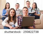 education and people concept....   Shutterstock . vector #250822738