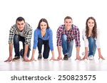people on starting line. group... | Shutterstock . vector #250823575