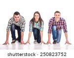 people on starting line. group... | Shutterstock . vector #250823752