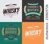 hand crafted whisky lettering... | Shutterstock .eps vector #250825726