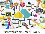 social media social networking... | Shutterstock . vector #250826002