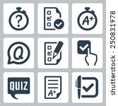quiz related vector icon set | Shutterstock .eps vector #250831978