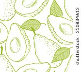 outline seamless pattern with... | Shutterstock .eps vector #250834612