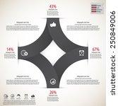 modern minimal infographics... | Shutterstock .eps vector #250849006