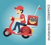 delivery man. vector... | Shutterstock .eps vector #250849915