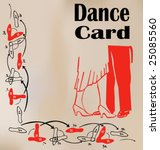 dance card | Shutterstock .eps vector #25085560