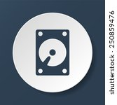 Hard Disk Icon. Vector...