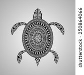 vector turtle  tattoo style ... | Shutterstock .eps vector #250864066