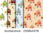 cartoon funny childish bird... | Shutterstock .eps vector #250864378