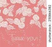 roses on burgundy background.... | Shutterstock .eps vector #250866382