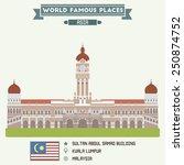 sultan abdul samad building....   Shutterstock .eps vector #250874752