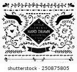 a set of vintage style design... | Shutterstock .eps vector #250875805
