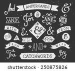 a set of chalkboard style... | Shutterstock .eps vector #250875826