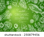 healthy vegetables frame.... | Shutterstock .eps vector #250879456