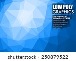low poly trangular trendy... | Shutterstock .eps vector #250879522