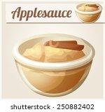 applesauce. detailed vector...   Shutterstock .eps vector #250882402