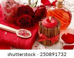 spa set  scented candle  sea... | Shutterstock . vector #250891732