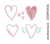 vector hearts set | Shutterstock .eps vector #250893436