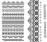 vector seamless decorative... | Shutterstock .eps vector #250903792