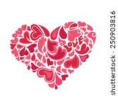 hearts within heart vector | Shutterstock .eps vector #250903816