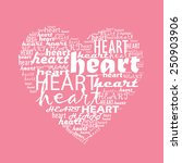 love typography with heart shape | Shutterstock .eps vector #250903906