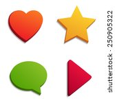 simple shape icons.