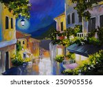 Oil Painting Landscape   Stree...