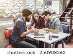 teamwork. three young... | Shutterstock . vector #250908262