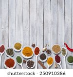 various spices selection. | Shutterstock . vector #250910386