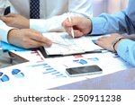 business colleagues working... | Shutterstock . vector #250911238