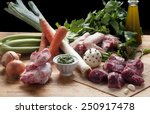 ingredients for the preparation ... | Shutterstock . vector #250917478