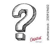 question mark | Shutterstock .eps vector #250919602