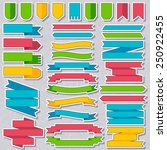 set of colored ribbons sticker... | Shutterstock .eps vector #250922455