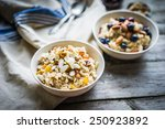 oatmeal with berries and nuts | Shutterstock . vector #250923892