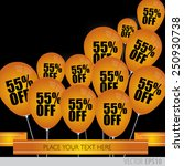 orange balloons with sale... | Shutterstock .eps vector #250930738