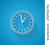 clock   isolated on blue...