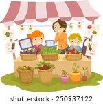 illustration of stickman kids... | Shutterstock .eps vector #250937122