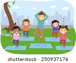 illustration of stickman kids... | Shutterstock .eps vector #250937176