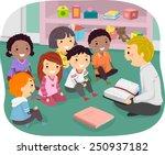 illustration of stickman kids... | Shutterstock .eps vector #250937182