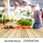 empty perspective wood and blur ... | Shutterstock . vector #250938766