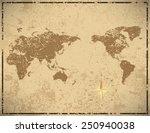 world map in vintage pattern... | Shutterstock .eps vector #250940038