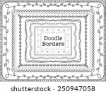 vector hand drawn doodle border ... | Shutterstock .eps vector #250947058