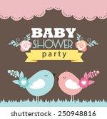baby shower card | Shutterstock .eps vector #250948816